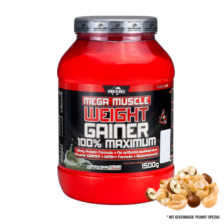 BWG Mega Muscle Weight Gainer (1500g) PEANUT-SPEZIAL