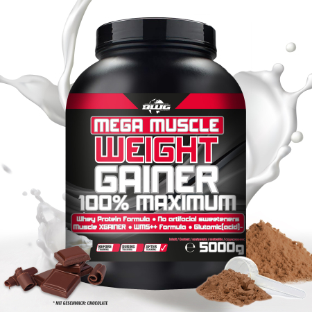 BWG Mega Muscle Weight Gainer - Schoko (5000g)
