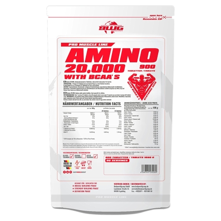 BWG Amino 20.000 mit BCAAs (900 Tabletten)