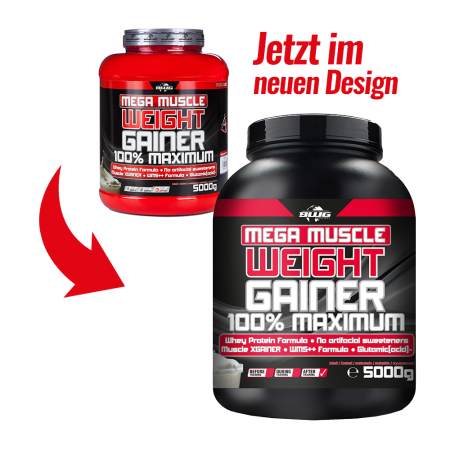 BWG Mega Muscle Weight Gainer - Vanille (5000g)